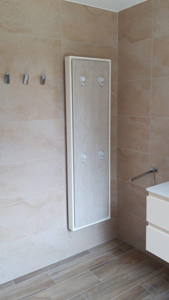 Sèche serviettes eternity, electrique à inertie decoratif design, 1000w vertical, sable clair, 155x45cm, salle de bain