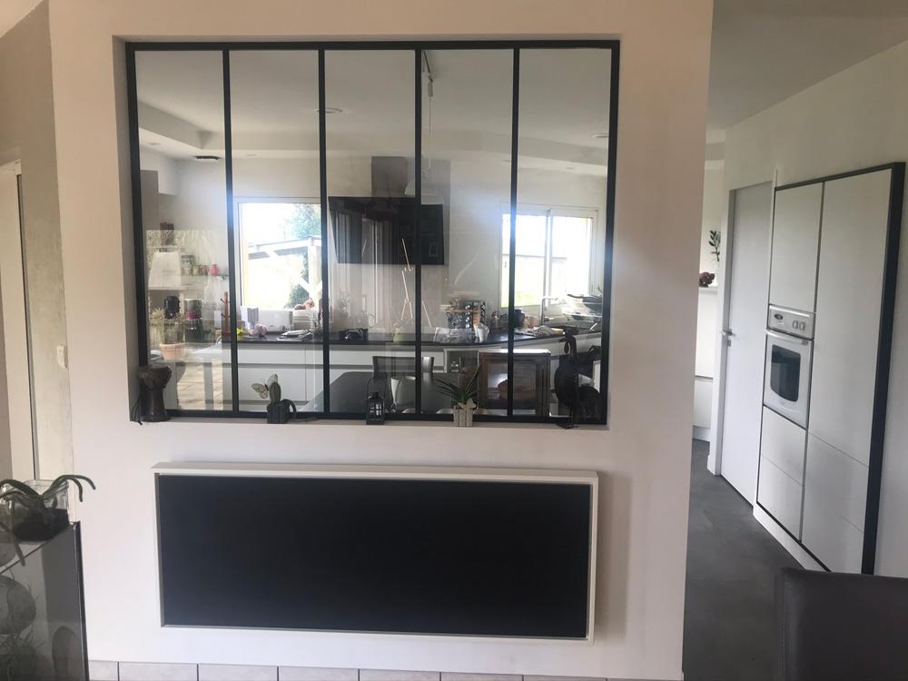 radiateur electrique a inertie decoratif design eternity, 2600w, horizontal, couleur noir, 60x155cm, salle de vie maison appartement